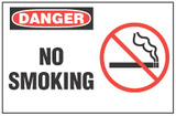No Smoking Sign - Danger, No Smoking (With Symbol)