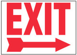 Exit Sign, (Right Arrow)