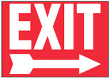 Exit Sign (Right Arrow, Red Background)
