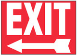 Exit Sign (Left Arrow, Red Background)