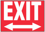 Exit Sign (Two-Way Arrow, Red Background)
