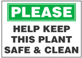 Sanitary Sign: Help Keep This Plant Safe