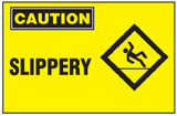 Caution Sign, Slippery (With Symbol, Yellow Background)