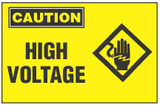 Caution Sign, High Voltage (With Symbol)