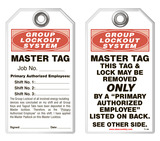 Lockout Safety Tag - Group Lockout System, Master Tag