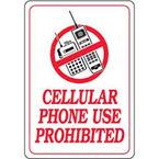 Cellular Phone Use Prohibited