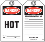 Maintenance Safety Tag - Danger, Hot