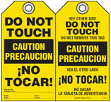 Bilingual Safety Tag - Caution, Precaucion, Do Not Touch, No Tocar! (English/Spanish)