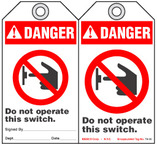 Lockout Safety Tag - Danger, Do Not Operate This Switch (Ansi)