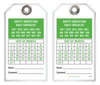 Inspection Safety Tag - Safety Inspection Daily Checklist