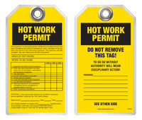 Inspection Safety Tag - Hot Work Permit