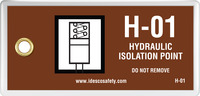 Hydraulic Isolation Point Tag (10/Pack)