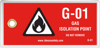 Gas Isolation Point Tag (10/Pack)
