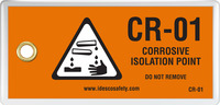 Corrosive Isolation Point Tag (10/Pack)