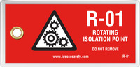 Rotating Isolation Point Tag (10/Pack)