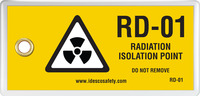 Radiation Isolation Point Tag (10/Pack)