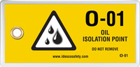Oil Isolation Point Tag (10/Pack)
