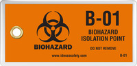 Biohazard Isolation Point Tag (10/Pack)