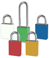 Aluminum Padlocks With Color Coded Padlock Sleeves