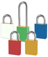 Brass Padlocks With Color Coded Padlock Sleeves