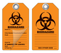 Biohazard Self-Laminating Peel and Stick Safety Tag