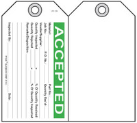 Accepted Self-Laminating Peel and Stick Safety Tag
