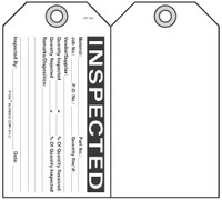 Inspected Self-Laminating Peel and Stick Safety Tag