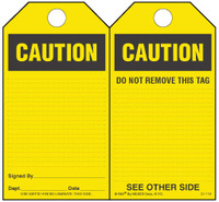 Caution Self-Laminating Safety Tag Kit