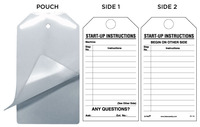 Startup Instructions Self-Laminating Safety Tag Kit