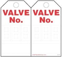 Valve Number (3-Digit) Self-Laminating Safety Tag Kit