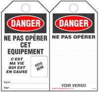 Danger, Ne Pas Operer Cet Equipement Self-Laminating Tag Kit