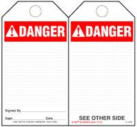 Danger (Ansi)  Paper Tag