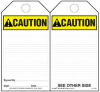 Caution (Ansi) Self-Laminating Safety Tag Kit