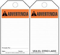 Advertencia (Ansi, Spanish) Self-Laminating Safety Tag Kit