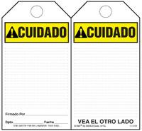 Precaution (Ansi, Spanish) Self-Laminating Safety Tag Kit