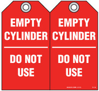 Safety Tag - Empty Cylinder, Do Not Use
