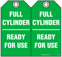 Safety Tag - Full Cylinder, Ready For Use