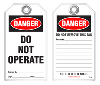 Lockout Safety Tag - Danger, Do Not Operate