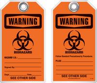 Safety Tag - Warning, Biohazard