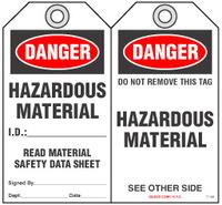 Safety Tag - Danger, Hazardous Materials
