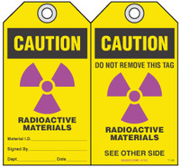 Safety Tag - Caution, Radioactive Materials