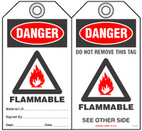 Fire Prevention Safety Tag - Danger, Flammable