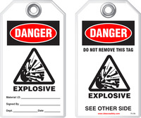 Safety Tag - Danger, Explosive