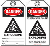 Safety Tag - Danger, Explosive