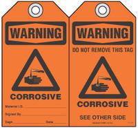 Safety Tag - Warning, Corrosive