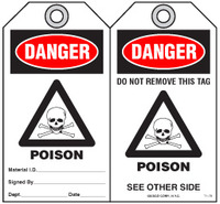 Safety Tag - Danger, Poison