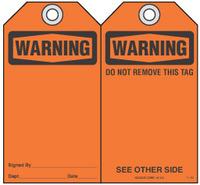 Safety Tag - Warning