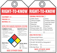 Safety Tag - Right-To-Know  (Nfpa - Diamond Chart)