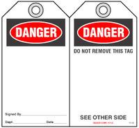 Safety Tag - Danger