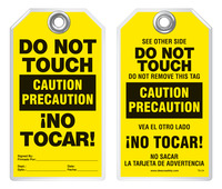 Bilingual Safety Tag - Caution, Precaucion, Do Not Touch, No Tocar! (English/Spanish)